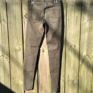 H&M Jeans - Dark green skinny jeans